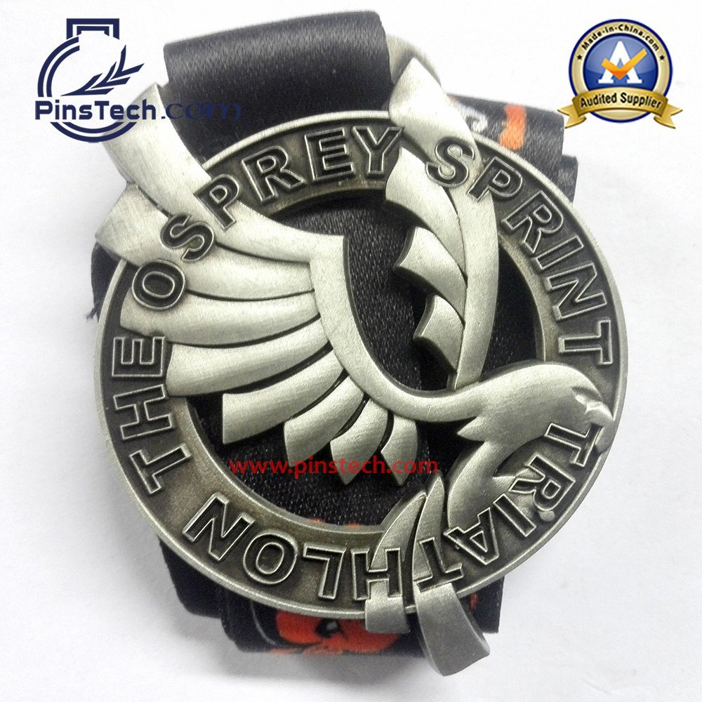 10 Marathon Run Medal with Antique Bronze Finish