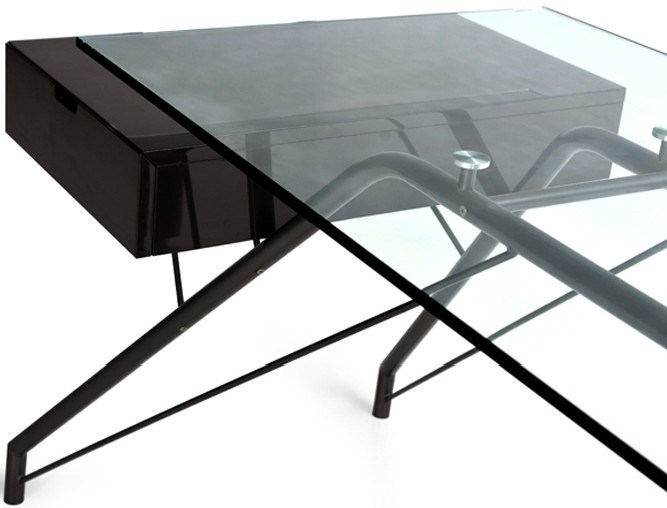 Modern Design Office Desk with Glass Top (DK-01)