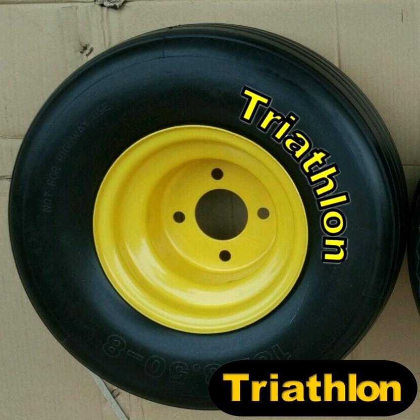 18 Inch 18X8.50-8 Ribbed Flat Free Polyurethane Foam Tires