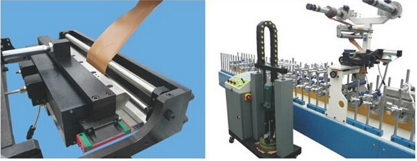 Hotmelt (PUR) Wrapping Veneer Machine for Doors and Desks Strong Adhesion