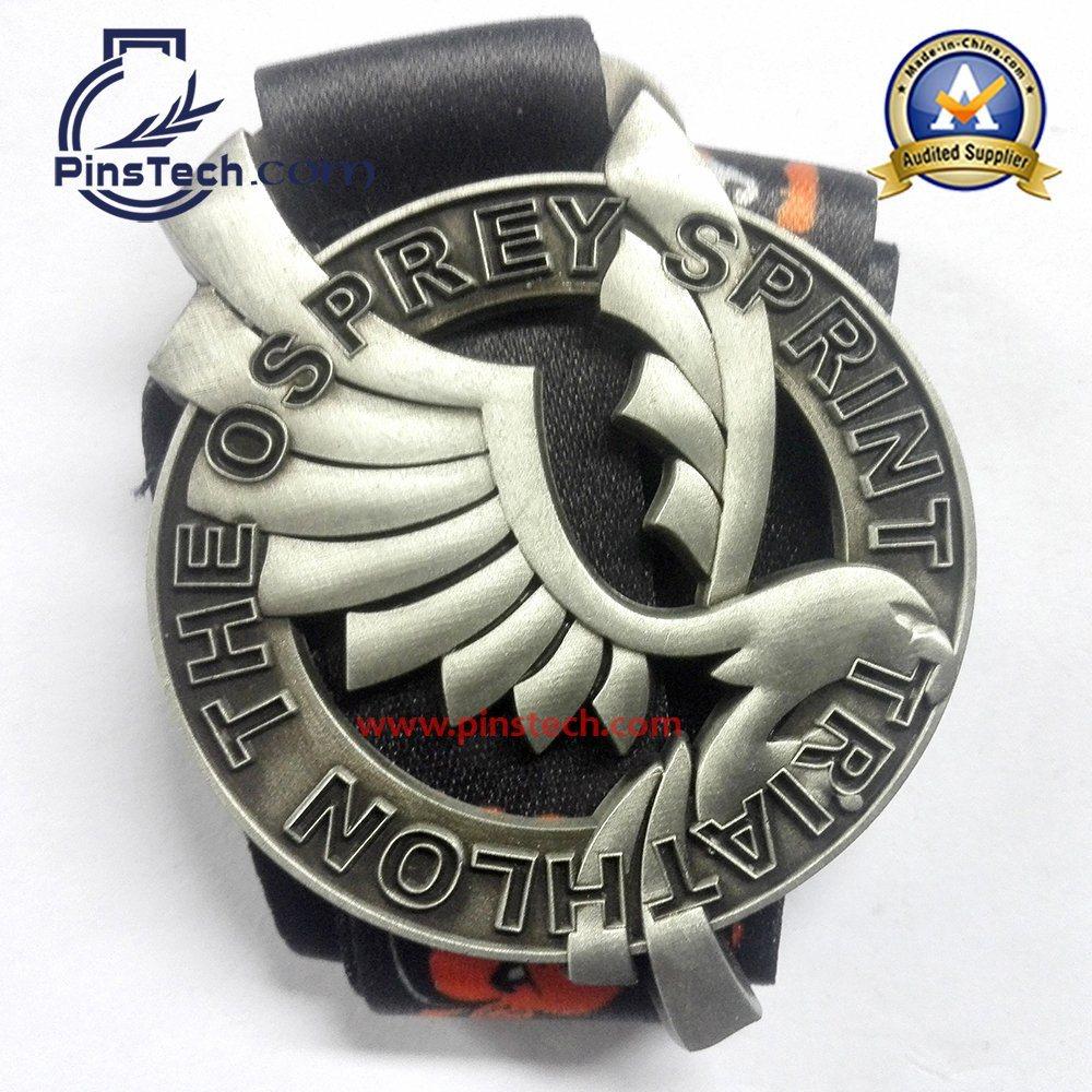 Custom 3D Relief Medal for Triathlon Game