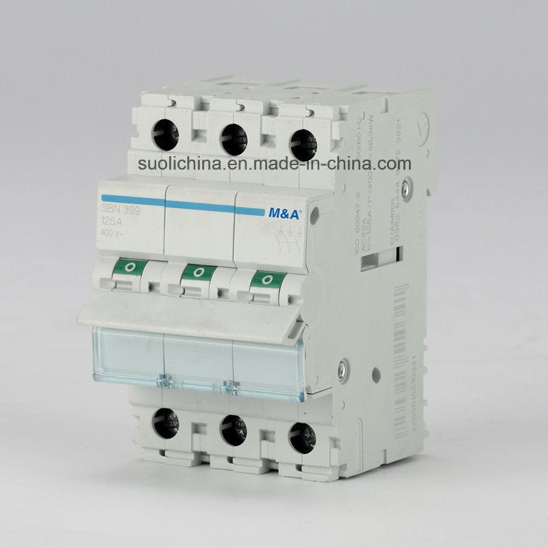 Hm 125A 3p Main Switch Circuit Breaker with High-Breaking Capacity (Isolators) Ce Standard