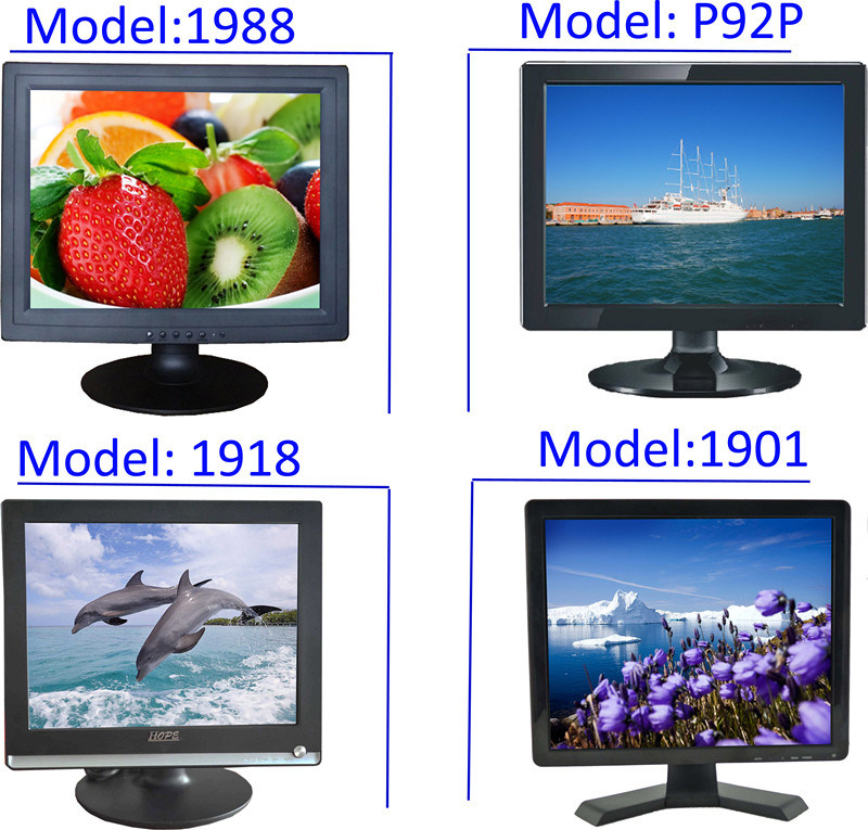 19 Inch LCD Monitor/19inch LCD TV with RoHS/19 TFT LCD Computer TV Monitor