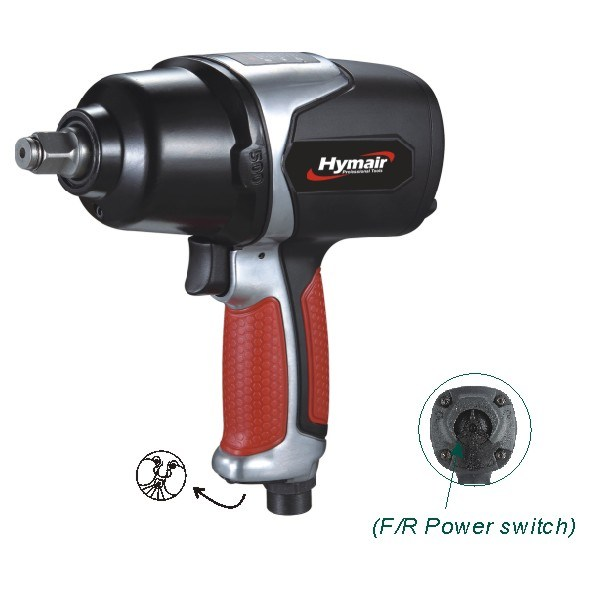 Pneumatic Tool 1/2′′ Heavy Duty Twin Hammer Air Impact Wrench