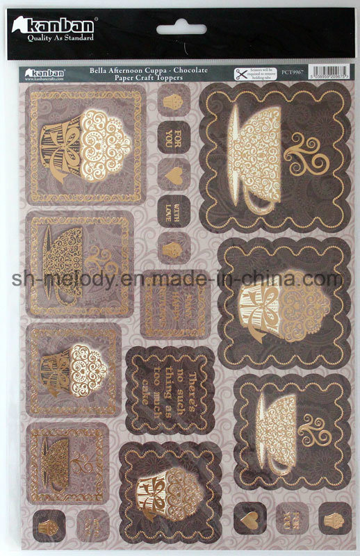 Exiqusite Foil-Printing Paper Craft Toppers /Paper Embellishments