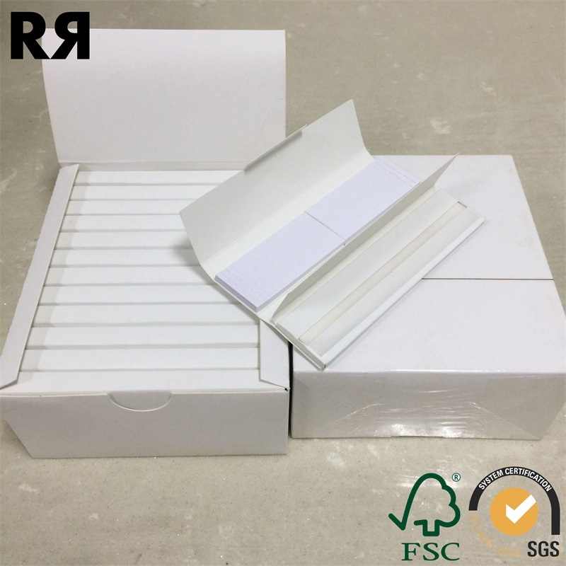 Richer 14 GSM Unbleach Hemp Cigarette Tobacco Smoking Rolling Paper with Filter Tips