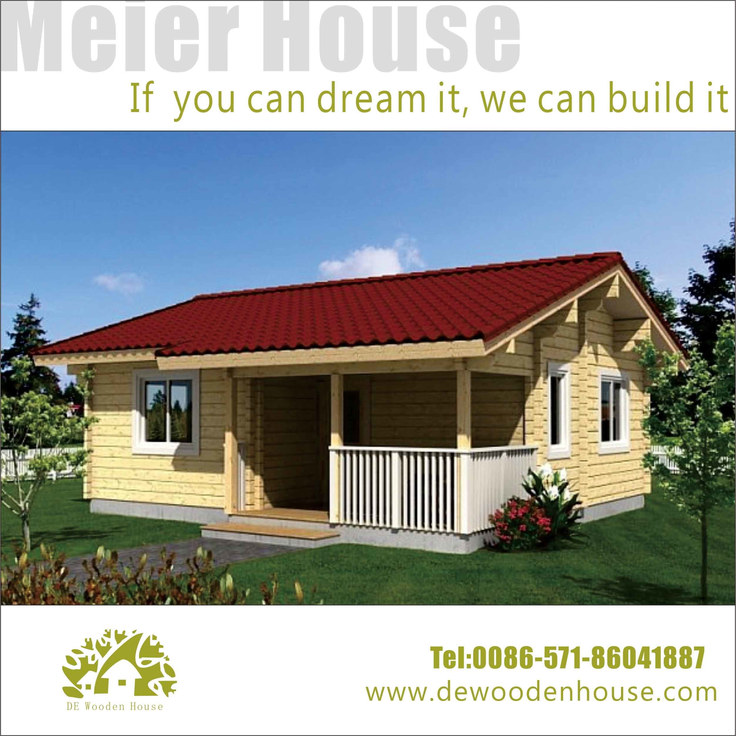 China 2015 hot sell solid pine wood small wooden house for Wood house plan