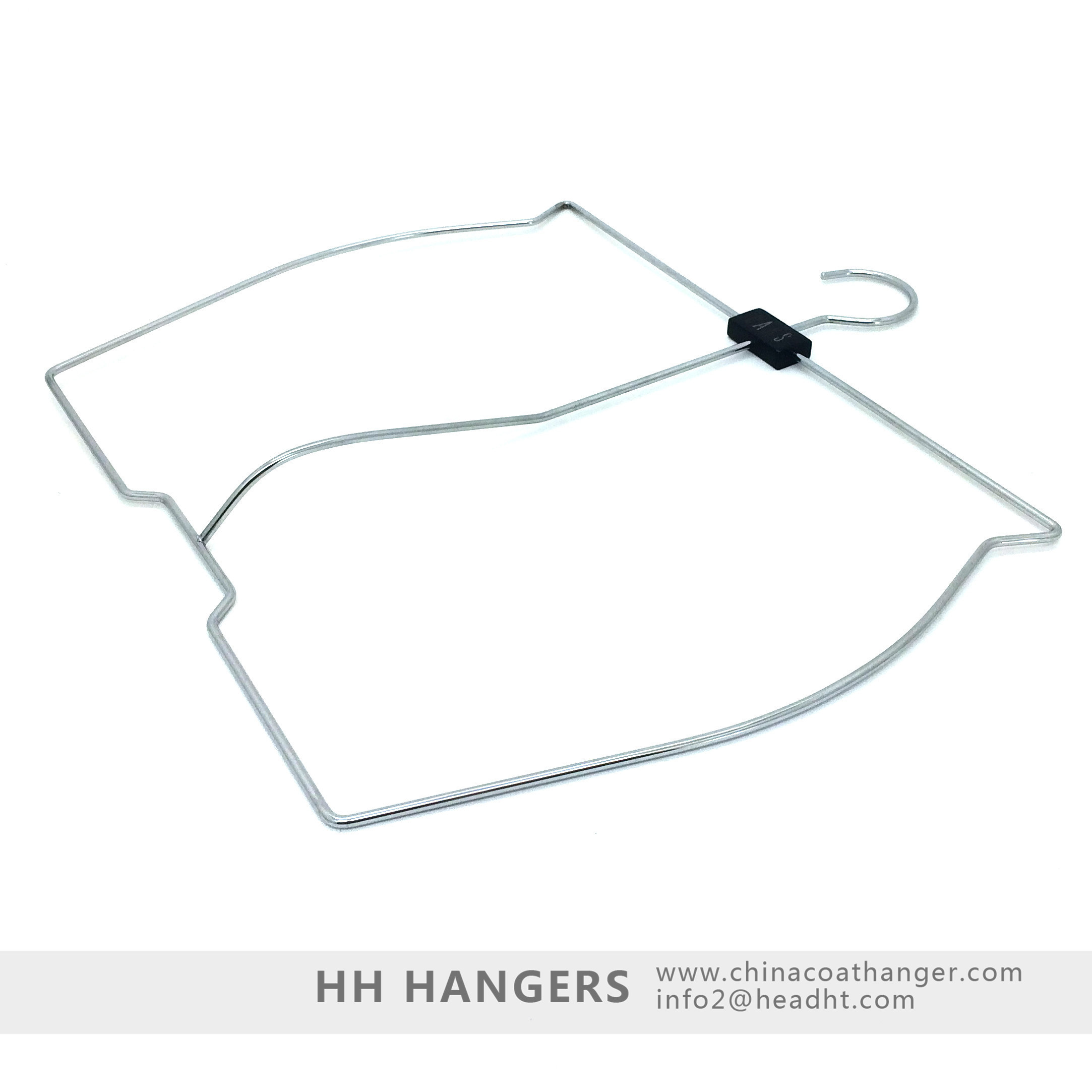 Logo Branded Men′s Shorts Swimming Wear Wet Suit Display Hanger, Metal Hanger