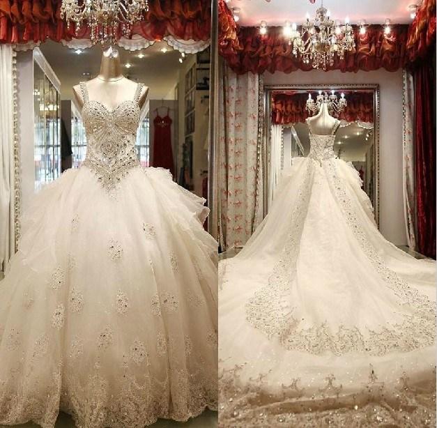 diamond top wedding dress - photo #32