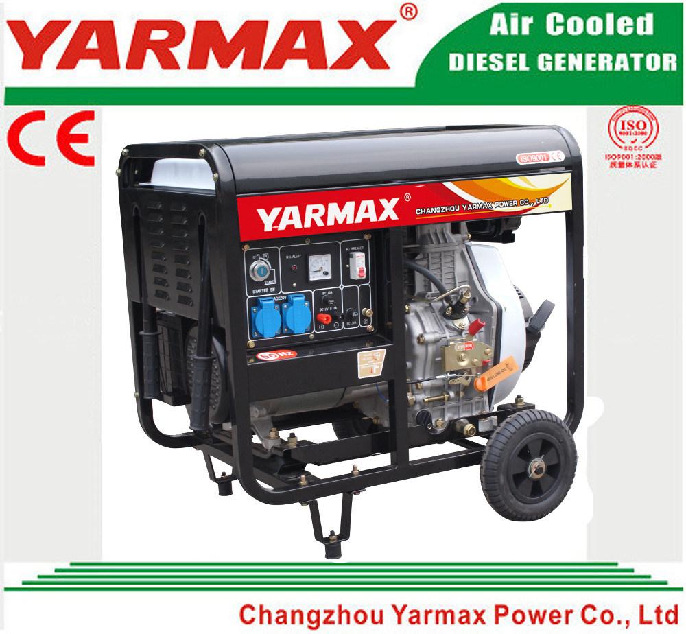 Yarmax Low Noise Air Cooled Diesel Engine Open Frame Diesel Generator Set Genset Ym7500eb-I