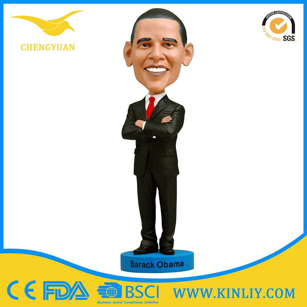 Obama Cheap Custom Resin Bobblehead Figurine