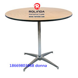 Plywood Round Cafe Banquet Folding Table