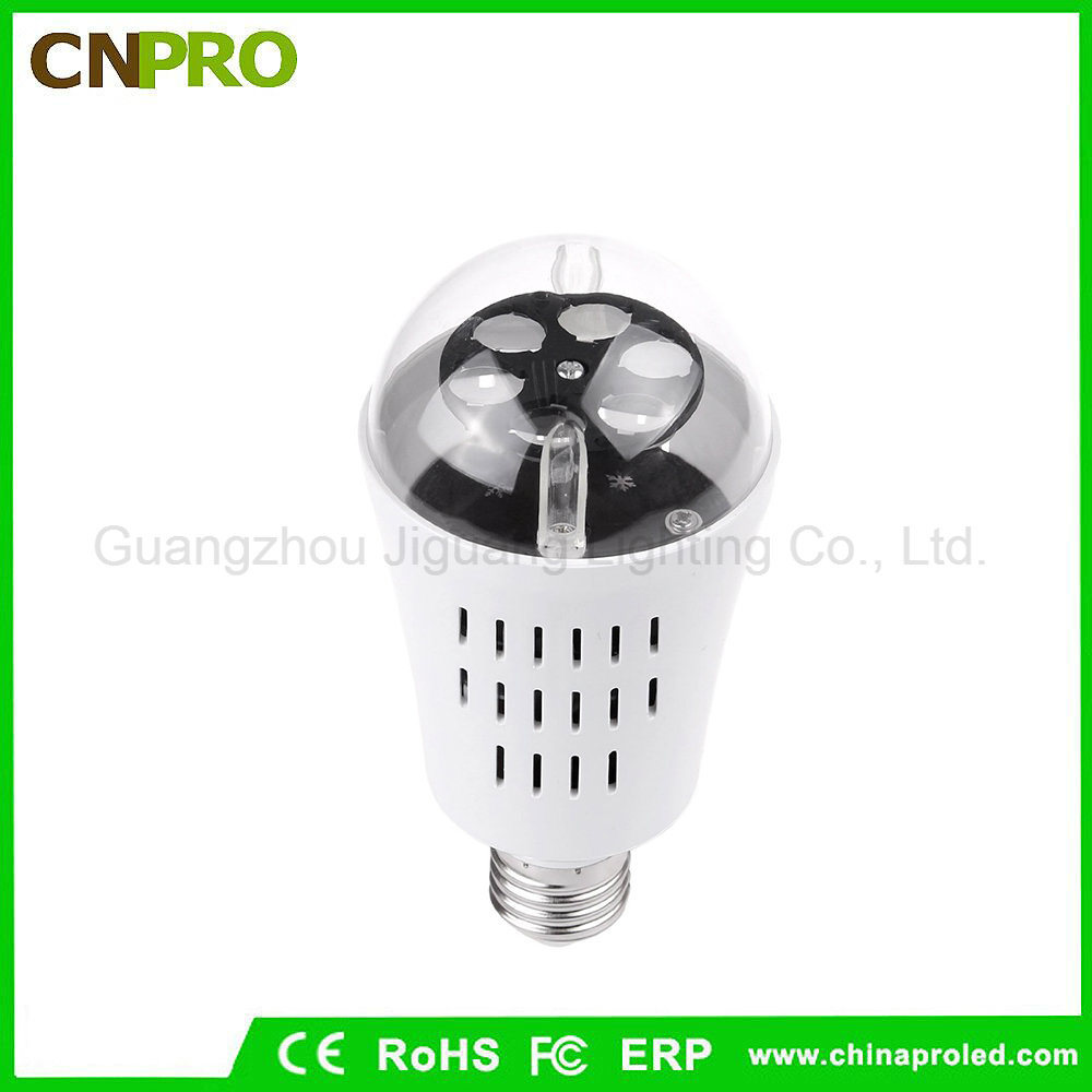 E27 4W LED Moving Snowflake Laser Projector Lamp Bulb for Christmas