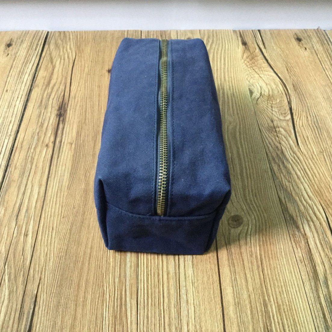 Customized Unisex Waxed Canvas Travel Shaving Kit