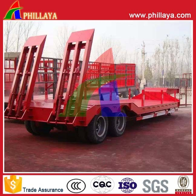 40tons 2 Axles Heavy Duty Truck Low Bed Trailers