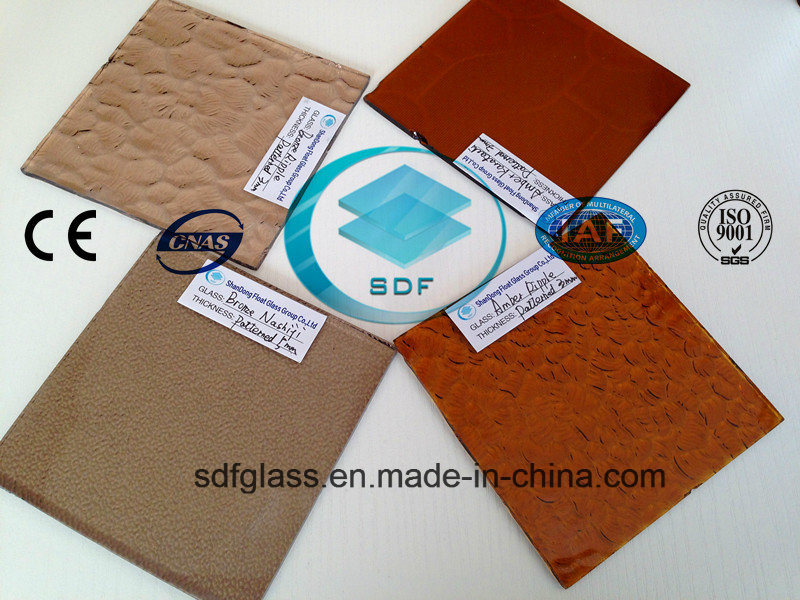 Bronze Patterned Glass with CE, ISO (3-8mm)
