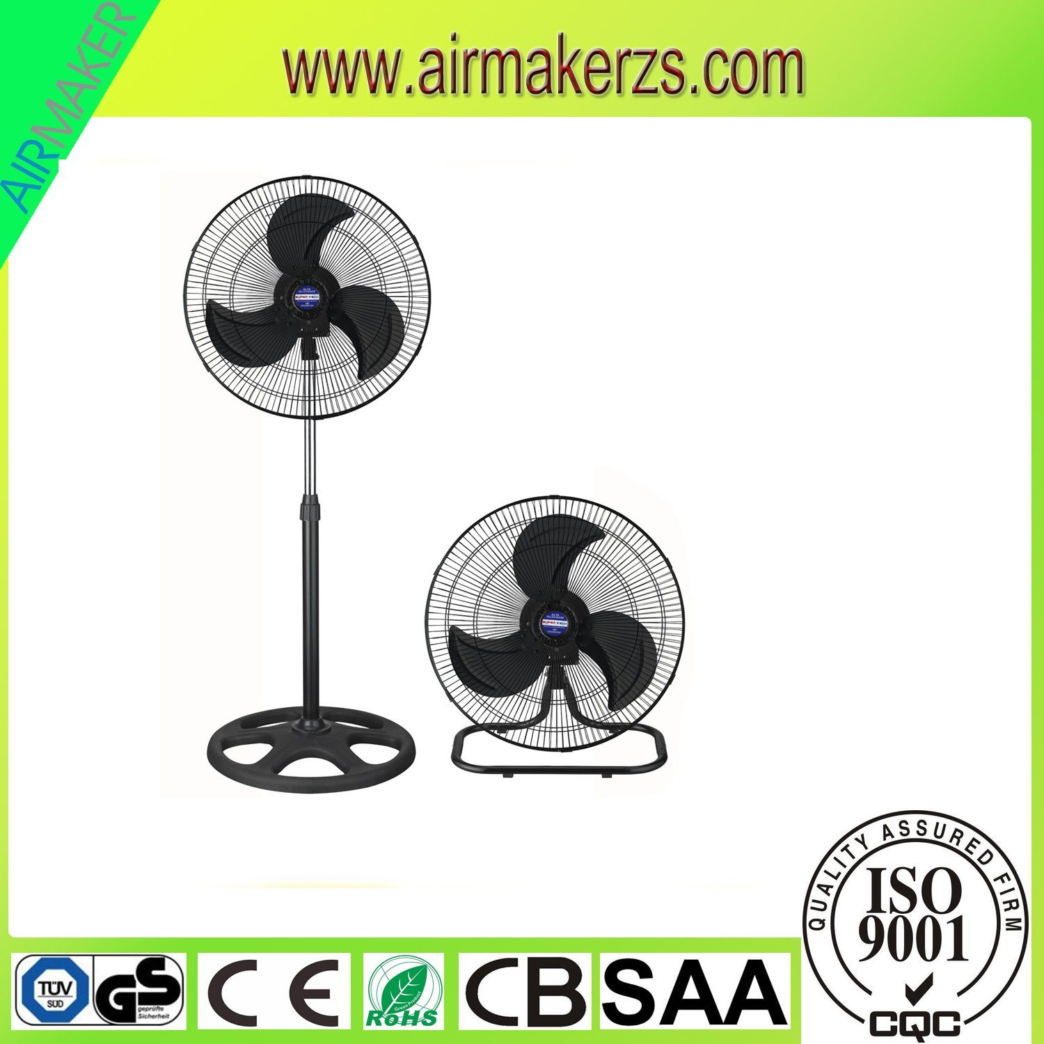 18 Inch Stand Fan for Home & Industrial Use with Ce
