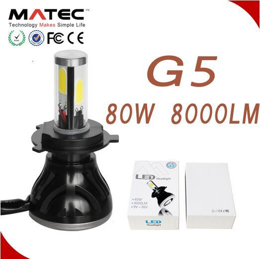 G5 4000lm LED Headlight COB H4 H7 9005 9006 LED Car Light for Auto