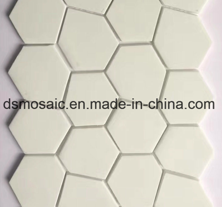 Newest Technology Ink Jet Printing Irregular Glass Mosaic Tile