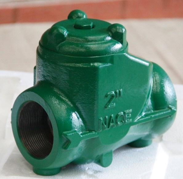 China threaded swing check valve ductile iron nace
