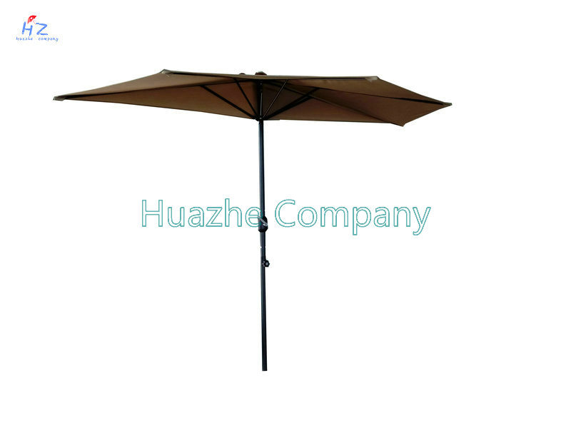Hot Sale 9ft 5 Ribs Half Umbrella Garden Umbrella Outdoor Umbrella