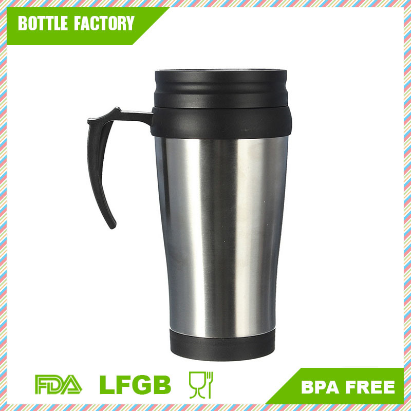 Coffee Travel Mug 16oz Insulateddouble Walled for Hot and Cold - Best Finger Grip Handle