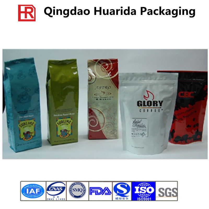 Stand up Coffee Pouch/ Plastic Coffee Bag with Zipper