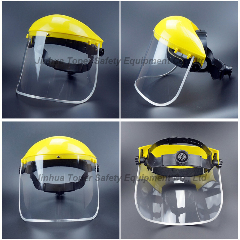 Top Sell Face Shield Ce En166 Certificate PVC Visor with Ratchet Suspension (FS4014)