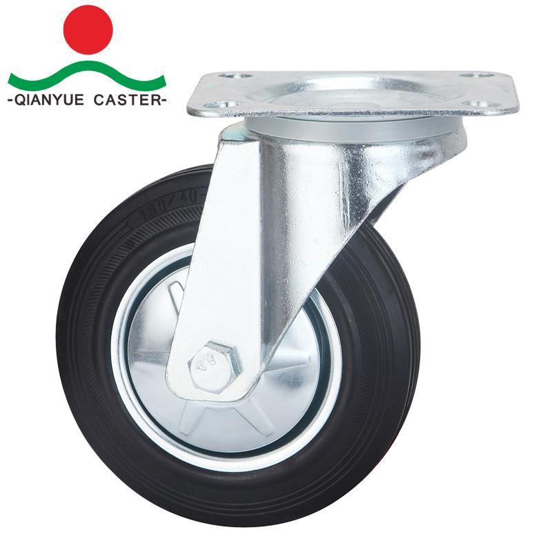 """Swivel Europe Type Industrial 8"""" Rubber Caster Wheels"""