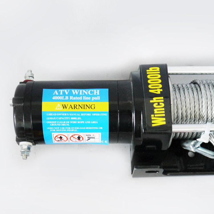 4WD Electric UTV Winch with Wireless Remote Control (4000lb-2/1814kg)