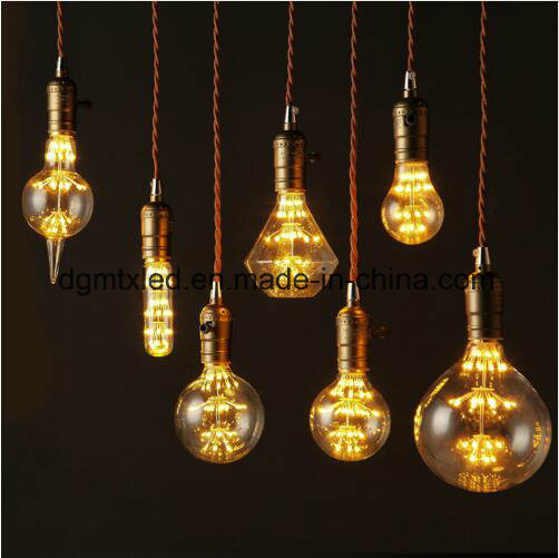 MTX 3W LED Light Bulb Squirrel Cage Vintage glass Edison Style E27 220V LED Bulb LED Filament lamp warm white for Home Decoration