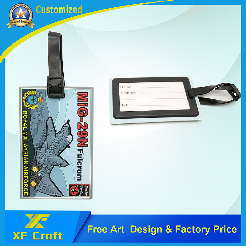 Manufacturer Customized 3D Design Rmaf Logo Bag Tag for Military Used (XF-LT02)