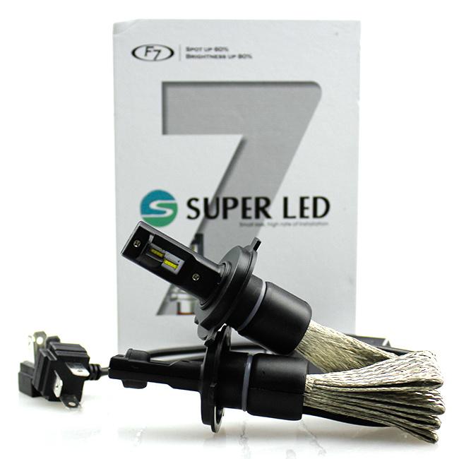 Auto Parts F7 H4 9003 Hb2 Car Headlight LED H/L Beam 6000k 3200lm 25W LED Headlight Kit Bulb Xenon HID White Lamp