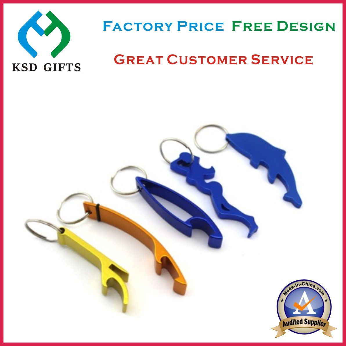 Cheap Wholesale Multicolor Metal Bottle Opener