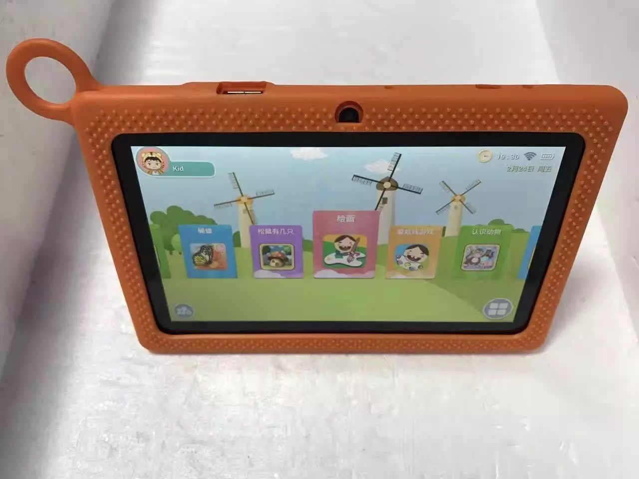 "7"" Children Tablet PC Android 4200mAh Blue Color"