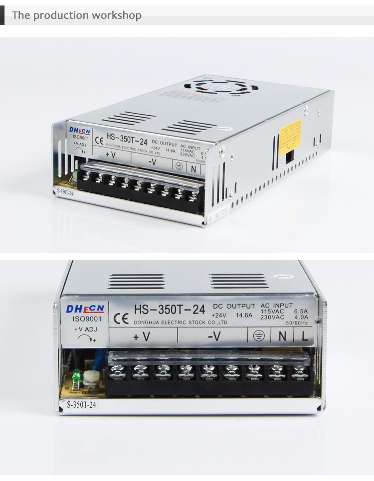 HS-350T Ce RoHS Single Output Switching Power Supply 350W Output 5V/7.5V/12V/13.5V/15V/24V/27V/48V