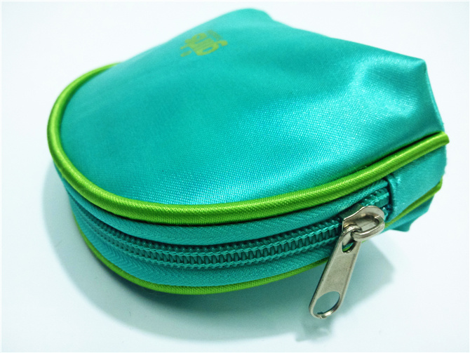 Microfiber Semicircular Coin Purse Makeup Bag