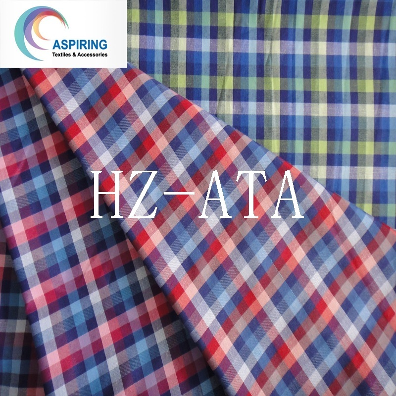 100% Cotton 21X21 Yarn Dyed Shirting Fabric