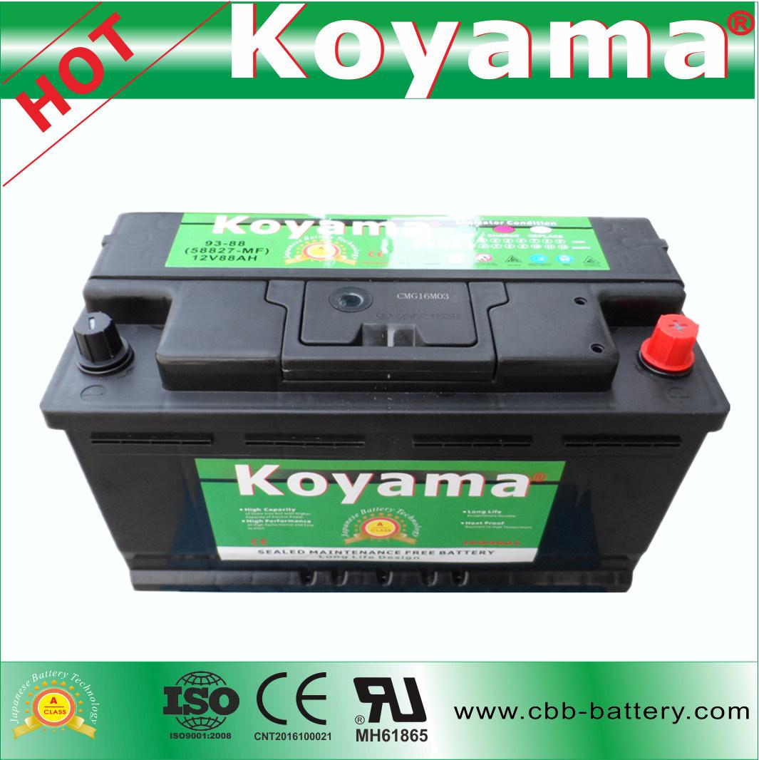 Koyama USA Standard 12V Car Battery Vehicle Battery 58827-Mf