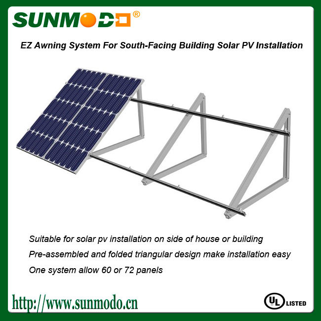 Pre-Assemble Solar Moutning Structure for Wall
