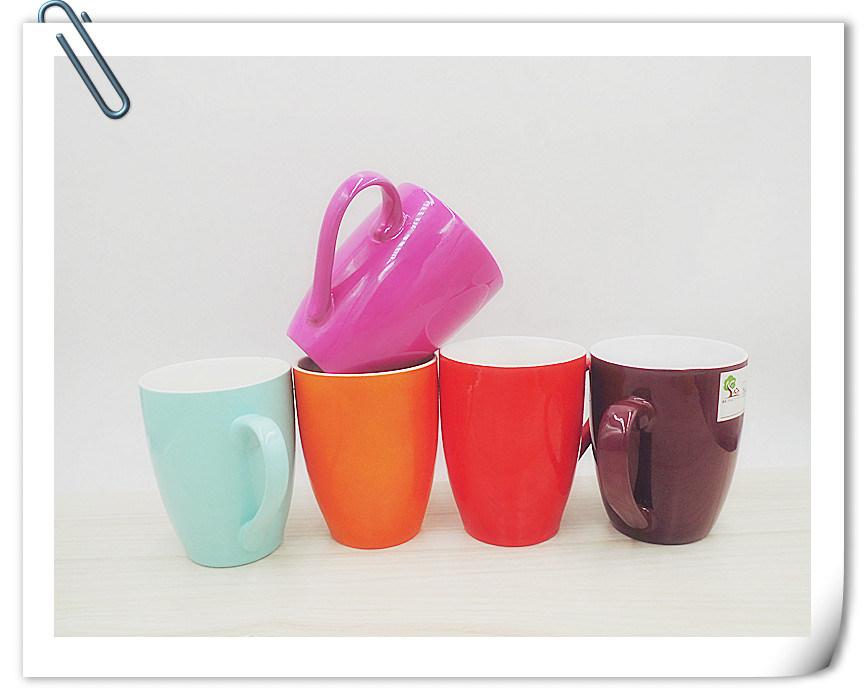 Ceramic Mug with Shiny Candy Color
