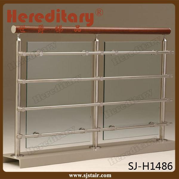 Exterior 304 Stainless Steel Balcony Glass Railing/ Inox Balcony Fence Glass Balustrade