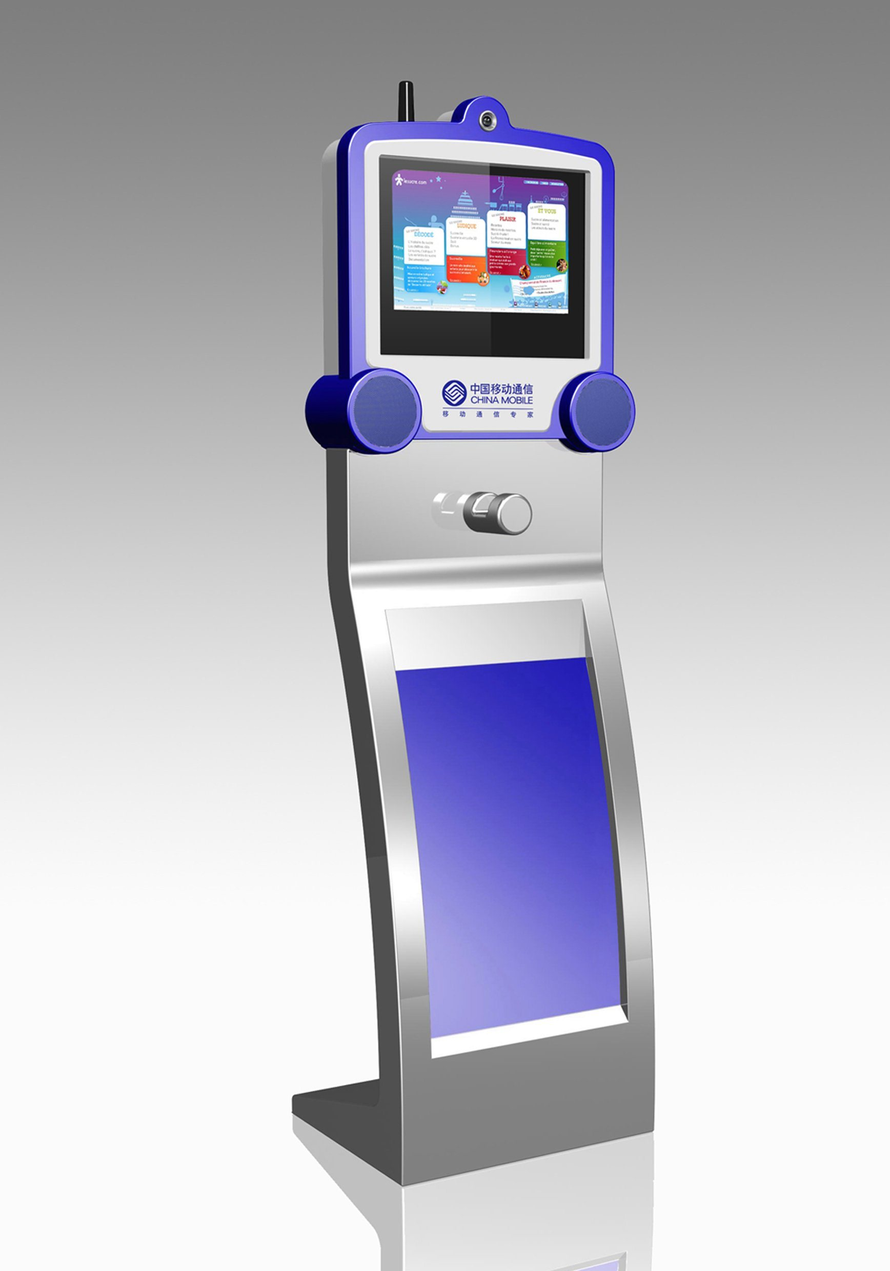 Touch Screen Ticket Vending Kiosk with Bill Acceptor and Card Reader