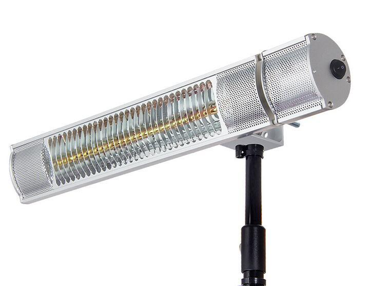 1, 500 Watt Infrared Parasol Electric Patio Heater