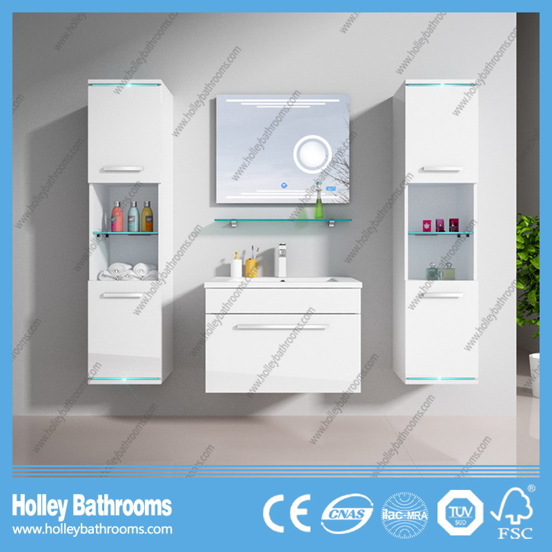 Hot LED Light Touch Switch High-Gloss Gorgeous Paint Bathroom Cabinet-D8066A