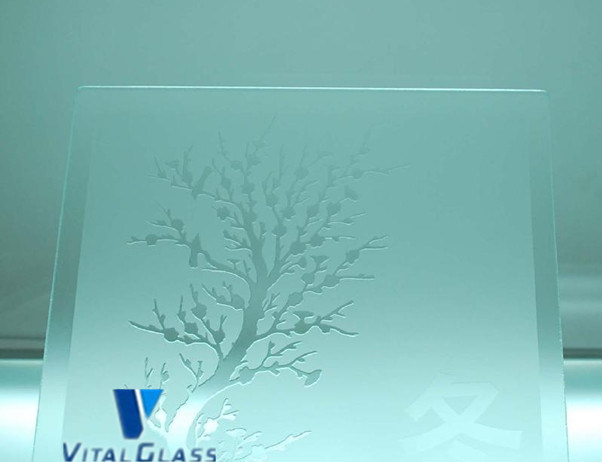 6-12mm Tinted Acid Etched Patterned Glass with CE