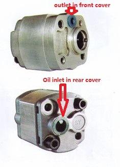 Hydraulic Gear Oil Pump Cbk-F3.3 High Pressure Pump Aluminum Alloy