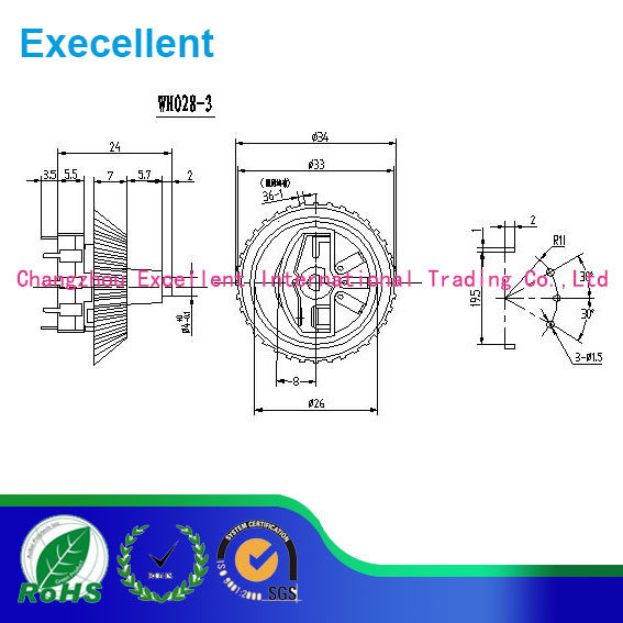 Rotary Swith of Potentiometer for The Electronic Speed Control