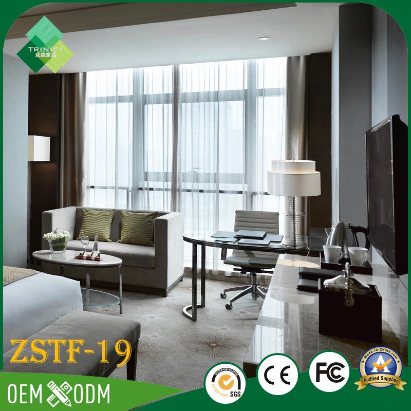 India Modern Style Teak Wholesale Hotel Furnitur Bedroom Set (ZSTF-19)
