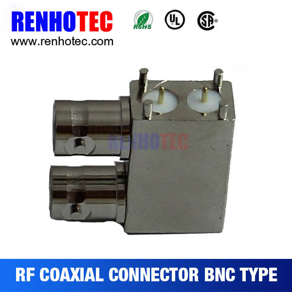 3G SDI PCB End Launch Receptacle RF Coaxial BNC Connector